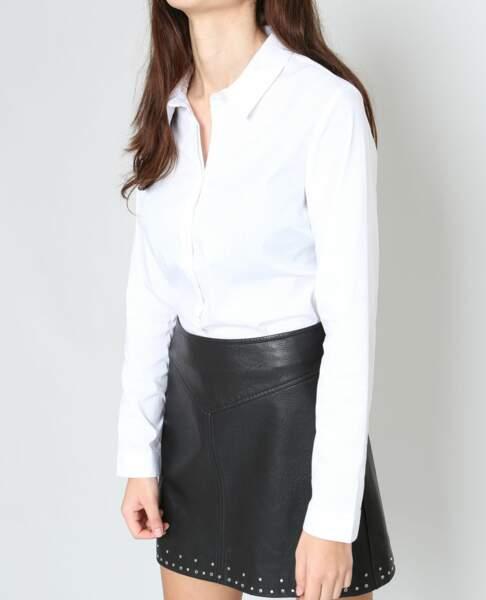 Pimkie : 35 articles soldés sur lesquels on craque : Chemise blanche unie, 12 euros au lieu de 15,99 euros