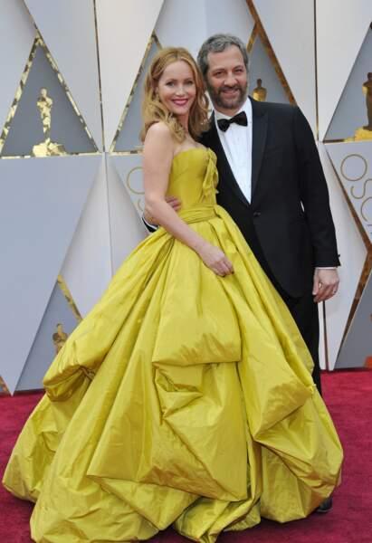 Les plus beaux couples des Oscars 2017 : Leslie Mann et Judd Apatow
