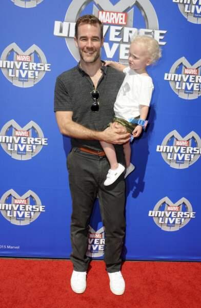 James Van Der Beek et son petit Joshua