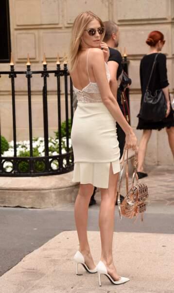 Défilé Christian Dior haute couture 2016-2017 : la femme du milliardaire ruse Alexandre Lebedev a pris la pose