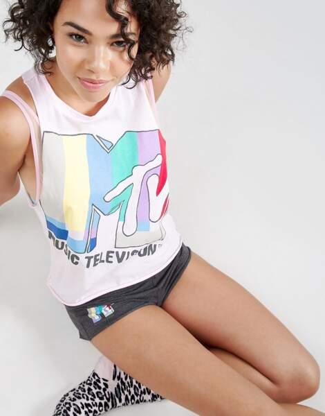 ASOS x MTV : t-shirt de pyjama, 27€