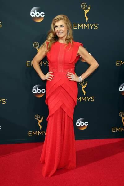 Emmy Awards 2016 : Connie Britton (American Horror Story) en Talbot Runhof