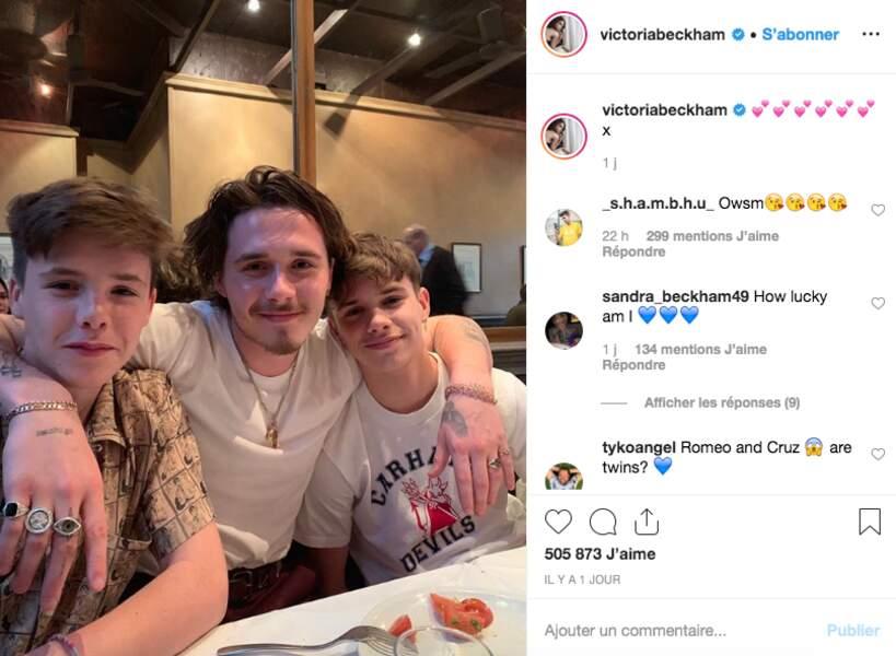 Les fils Beckham, Brooklyn, Cruz et Romeo