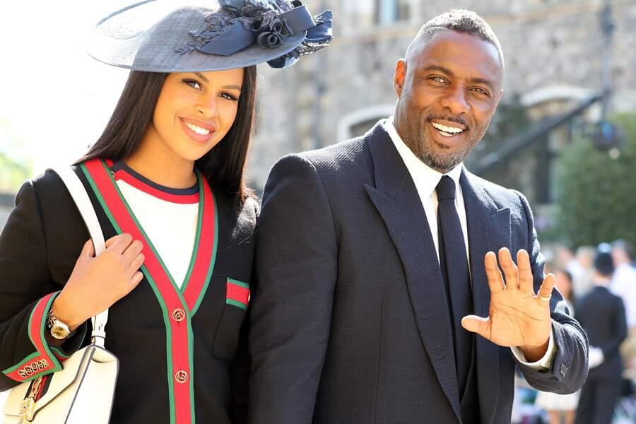 Idris Elba et sa compagne Sabrina Dhowre au mariage d'Harry et Meghan