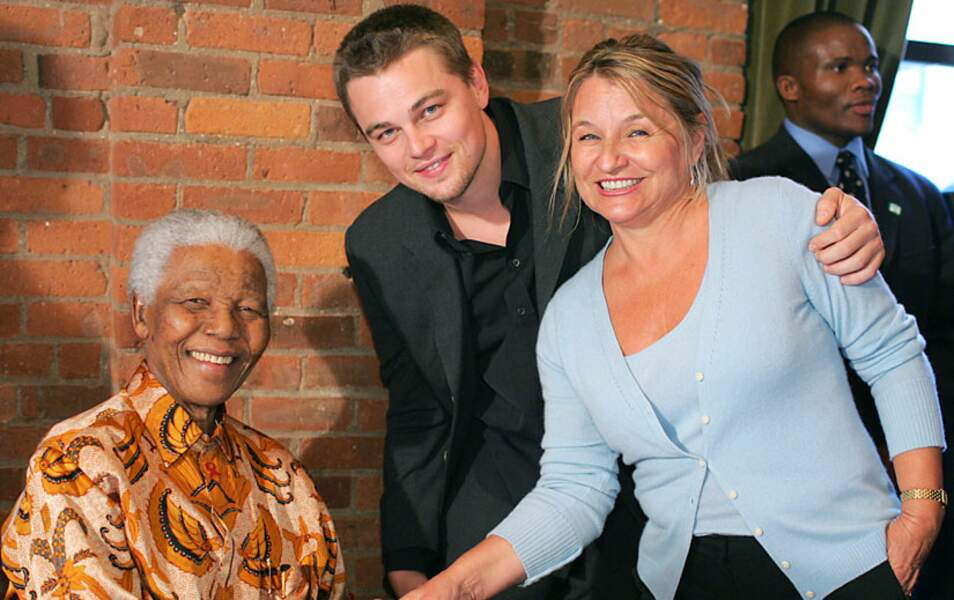 Avec Leonardo DiCaprio et sa maman