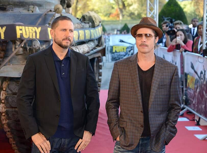David Ayer et Brad Pitt