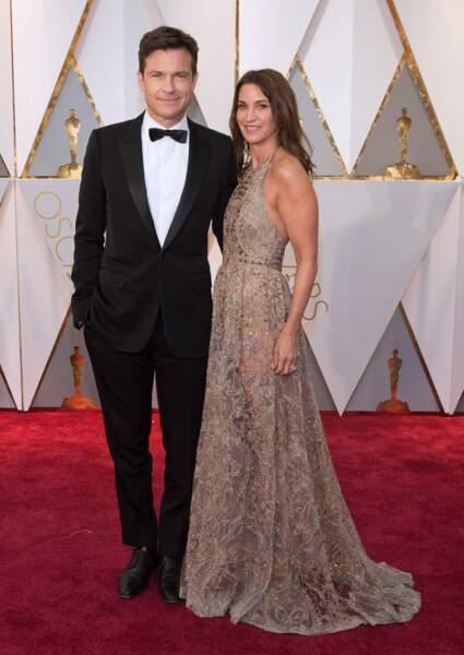 Les plus beaux couples des Oscars 2017 : Jason Bateman et Amanda Anka