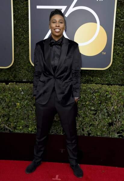 Lena Waithe lors de la 75e cérémonie des Golden Globes, le 7 janvier 2018