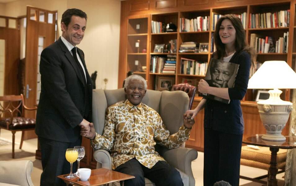 Avec Carla et Nicolas Sarkozy