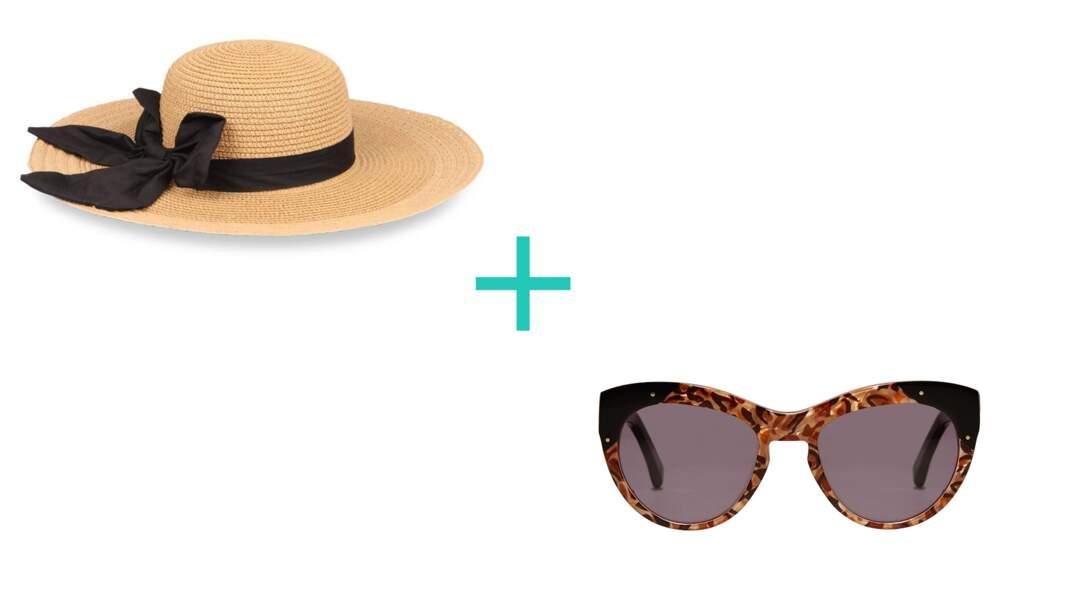Les grandes dimensions : Chapeau. En polyester, 12,99€, Chausséa + Solaires Depart, 380€, Revel.
