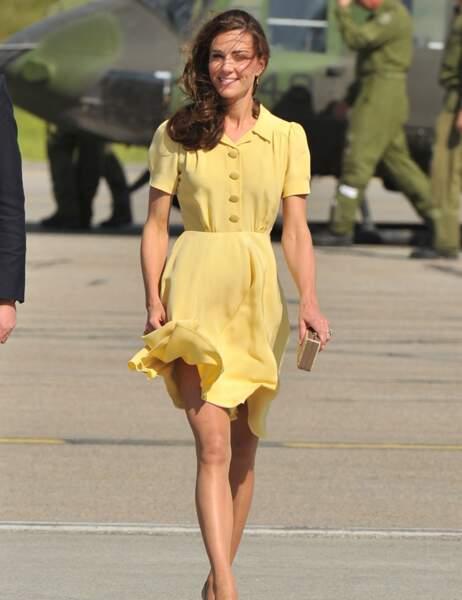 Kate en 2011, le vent lui voulait déjà des misères