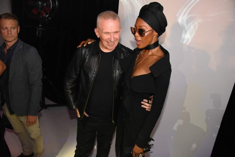 Jean-Paul Gaultier et Naomi Campbell