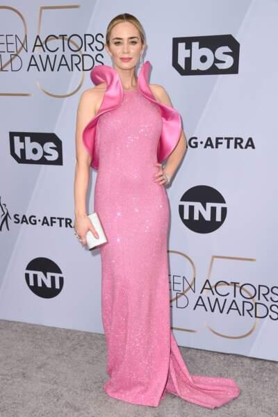 Emily Blunt aux SAG Awards 2019, le 27 janvier, à Los Angeles