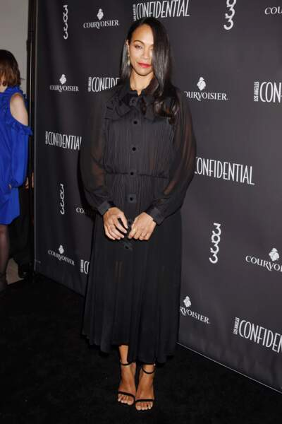 Zoe Saldana a 40 ans : en petite robe noire
