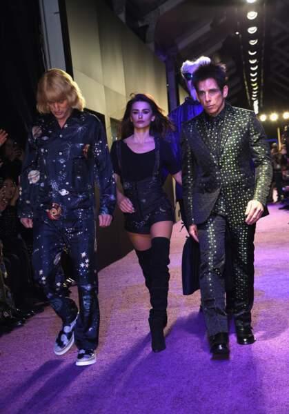 Owen Wilson, Penélope Cruz et Ben Stiller défilent pour l'avant-première de Zoolander 2 à New York