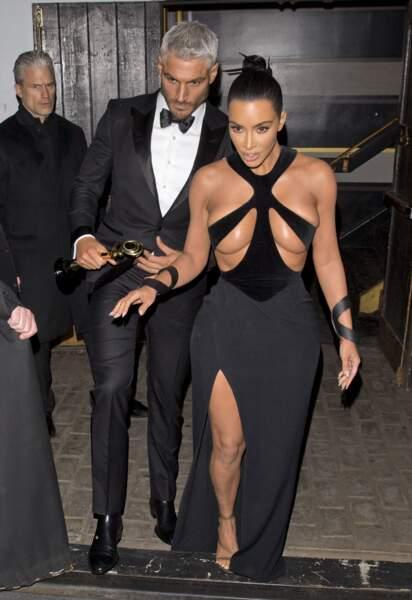 Kim Kardashian et son coiffeur Chris Appleton aux Hollywood Beauty Awards