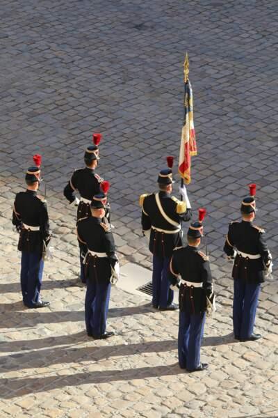 La garde républicaine lors de l'hommage national à Charles Aznavour