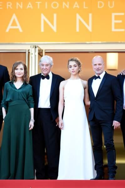 Isabelle Huppert, Paul Verhoeven, Alice Isaaz et Christian Berkel