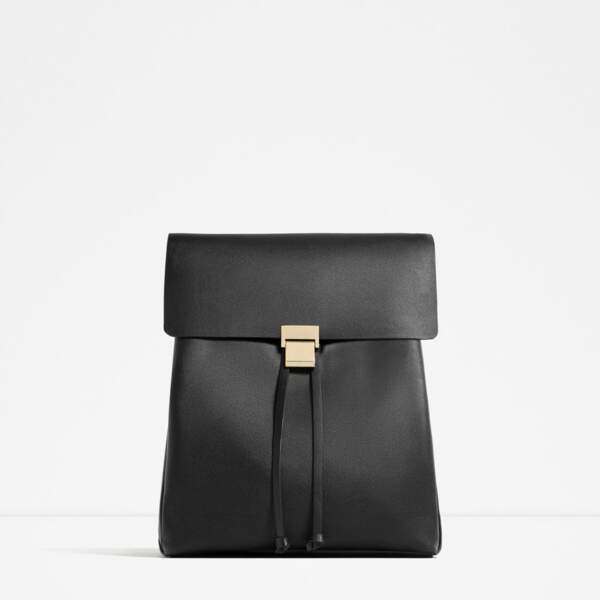 Zara sac à dos avec fermueture métallique 19,95€