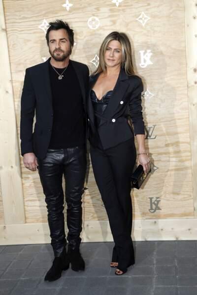 Soirée Louis Vuitton x Jeff Koons au Louvre : Justin Theroux et Jennifer Aniston