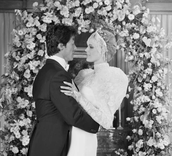 Robes de mariée de stars : VINTAGE ! Sylvester Stallone et Brigitte Nielsen en 1985