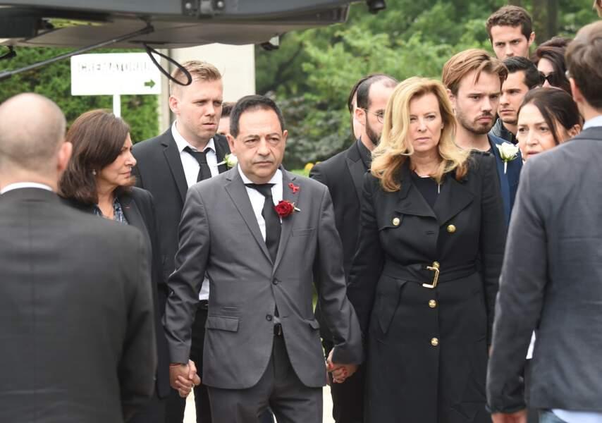 Anne Hidalgo, Jean-Luc Romero et Valérie Trierweiler aux obsèques de Christophe Michel