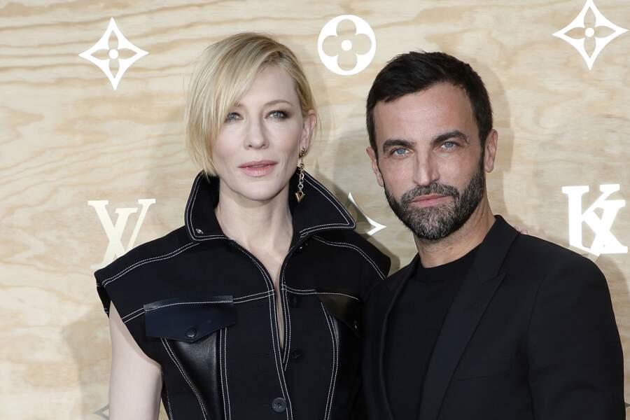 Soirée Louis Vuitton x Jeff Koons au Louvre : Cate Blanchett et Nicolas Ghesquière, DA de la maison Vuitton