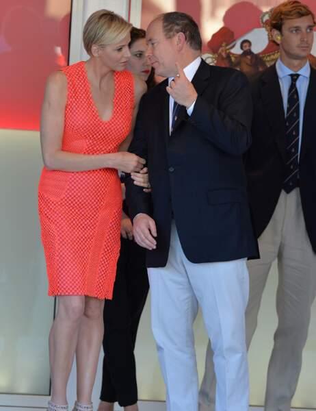 Charlène, Albert II de Monaco et Pierre Casiraghi