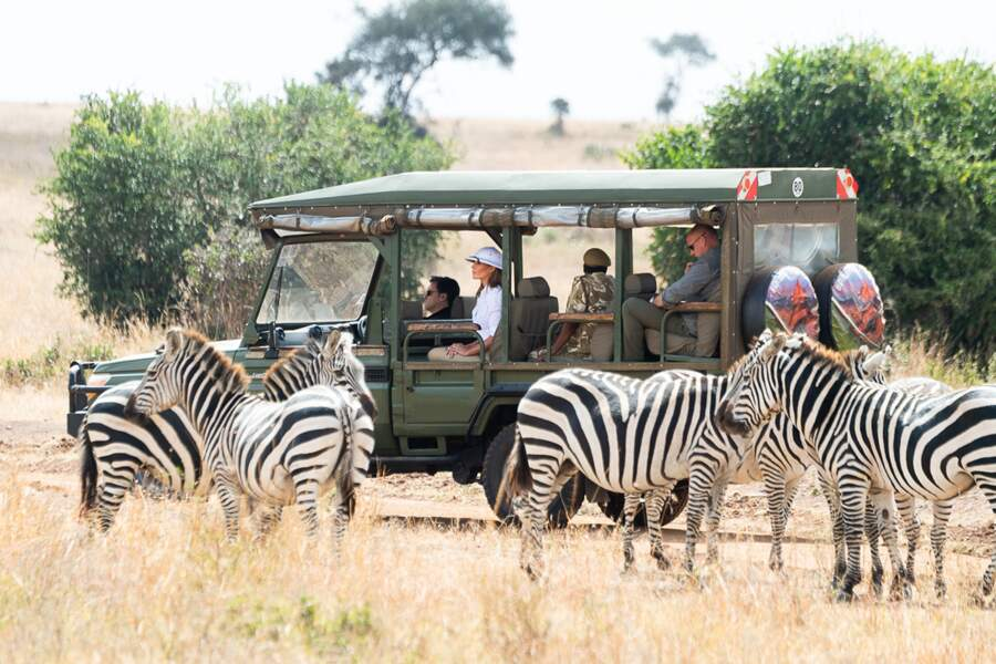 Melania Trump a fait un safari