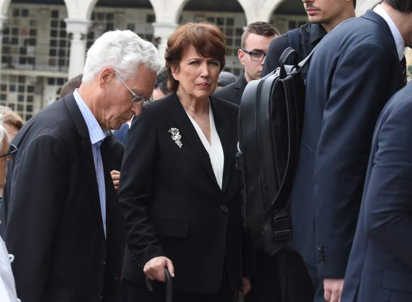 Roselyne Bachelot aux obsèques de Christophe Michel