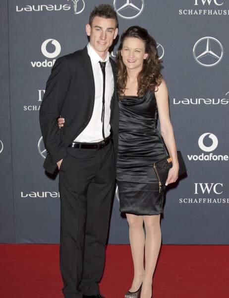 Laurent Koscielny et son épouse, Claire