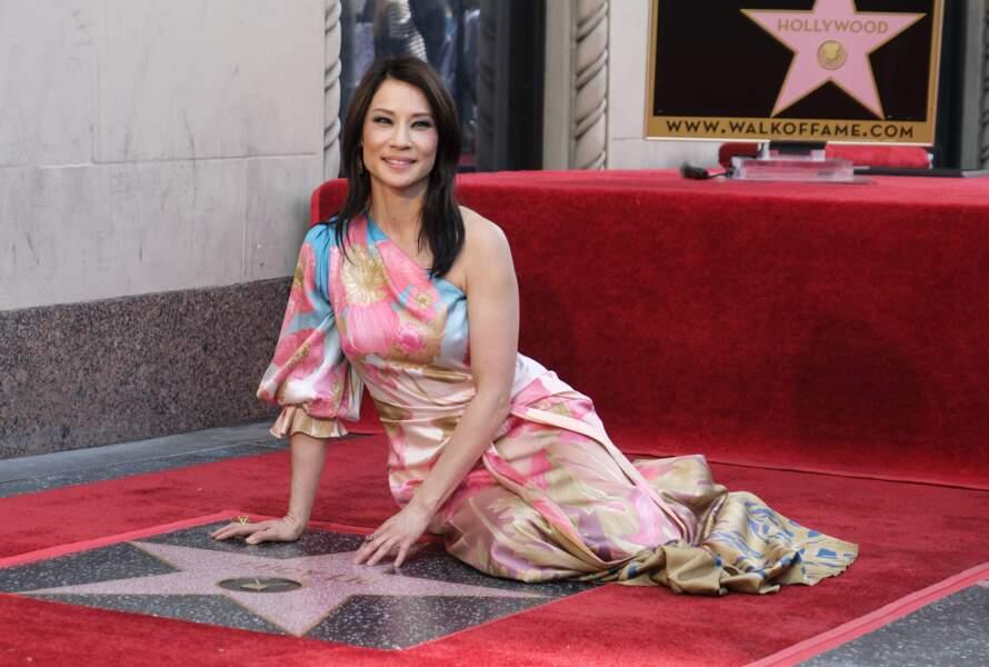 Lucy Liu inaugure son étoile sur Hollywood Boulevard