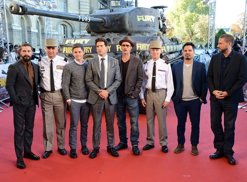 Toute l'équipe du film Fury à Paris
