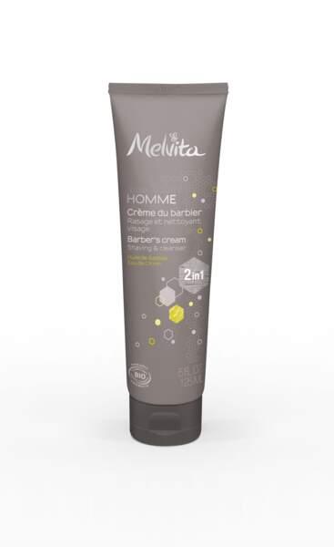 Crème du barbier. 125 ml, 15 €, Melvita