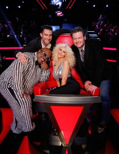Le jury historique de The Voice US : Cee Lo Green, Adam Levine, Blake Shelton et Christina Aguilera