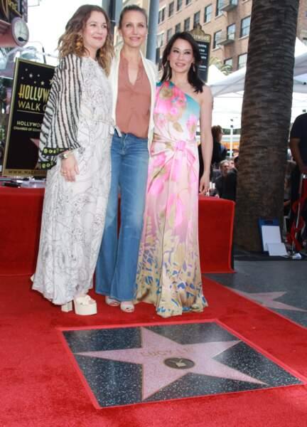 Drew Barrymore, Cameron Diaz et Lucy Liu sur le Walk of Fame