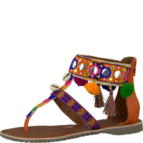 Sandale pompons. 49,95€, Marco Tozzi.