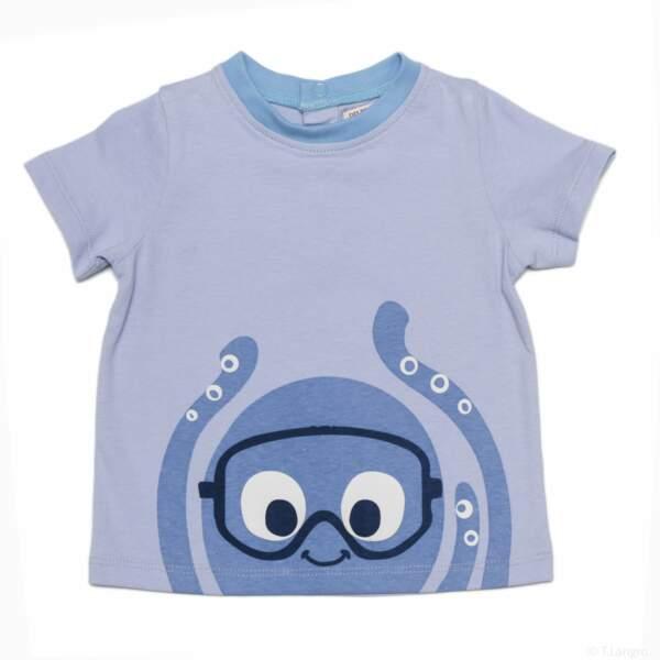 T-shirt pieuvre garçon. 4,99 € (du 3 mois au 24 mois), Du Pareil Au Même