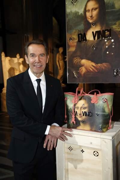 Soirée Louis Vuitton x Jeff Koons au Louvre : Jeff Koons et une de ses créations