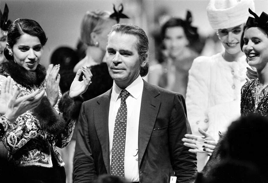 L'évolution physique de Karl Lagerfeld : le créateur en 1983