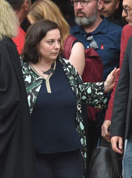 Emmanuelle Cosse aux obsèques de Christophe Michel