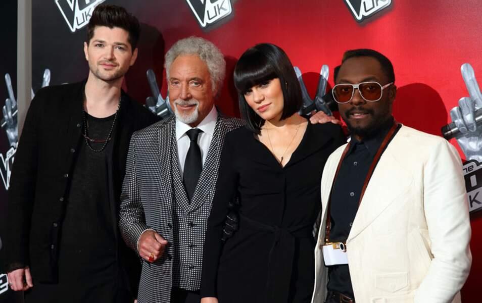 Danny O'Donoghue, Tom Jones, Jessie J et Will.i.am (The Voice UK saison 1 et 2)
