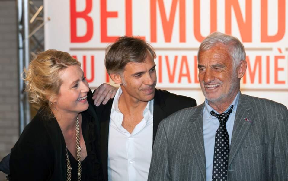 La famille Belmondo avec Luana, Paul et Jean-Paul