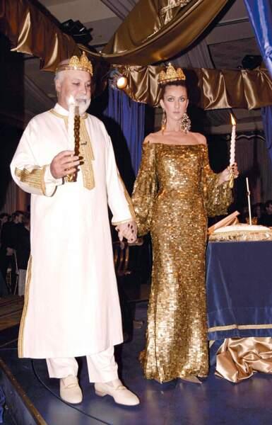Robes de mariée de stars : Céline Dion et René Angelil en 2000 pour le renouvellement de leurs voeux