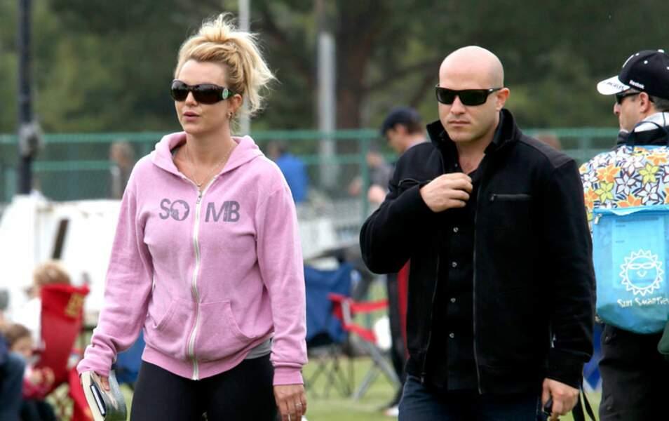 Britney Spears et un garde du corps