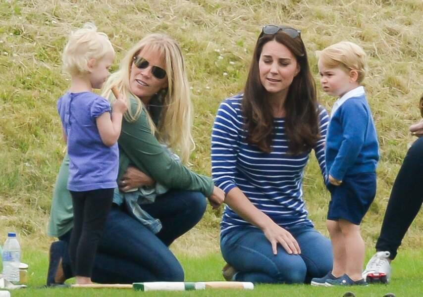 Anniversaire du Prince George - Mais heureusement il y avait une blondinette pas loin