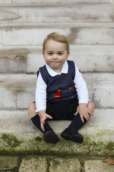 Anniversaire du Prince George - Noël 2014 Baby George prend la pose