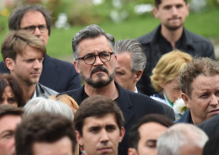 Olivier Minne aux obsèques de Christophe Michel