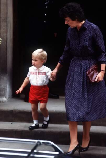 ...que portait son papa, le prince William, en 1984