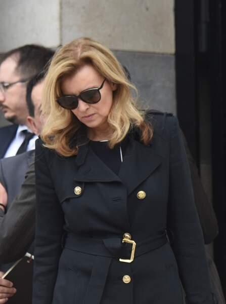 Valérie Trierweiler aux obsèques de Christophe Michel